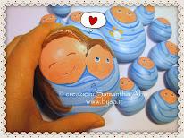 Bomboniere originali battesimo o nascita, pupattoli fermacarte dipinti su sasso
