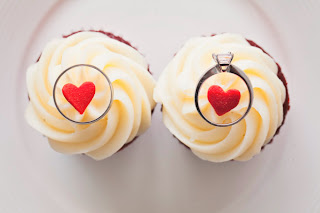 Wedding rings top cupcakes - Posted by Kent Buttars, A Heavenly Ceremony