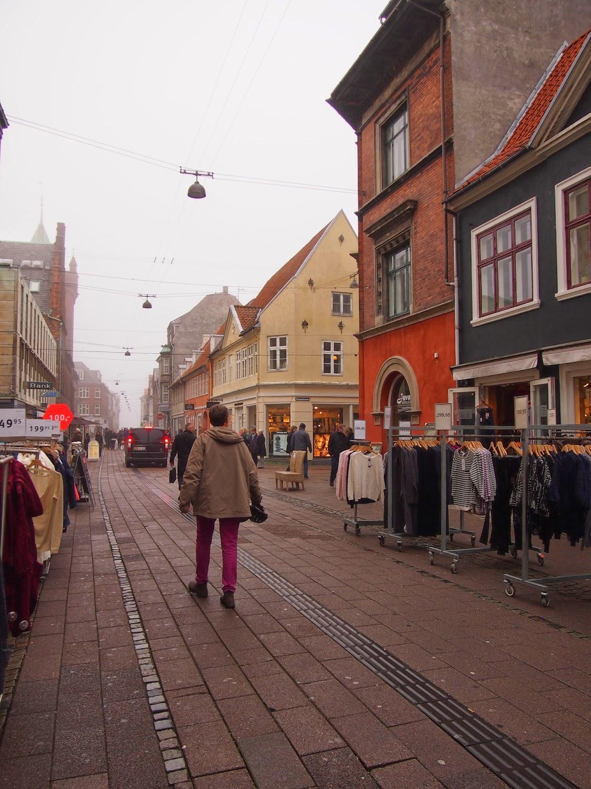 outdoors shopping in Helsingor, Denmark