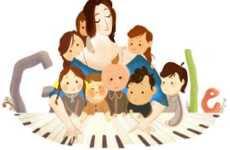Clara Schumann: doodle de Google, 13 de septiembre