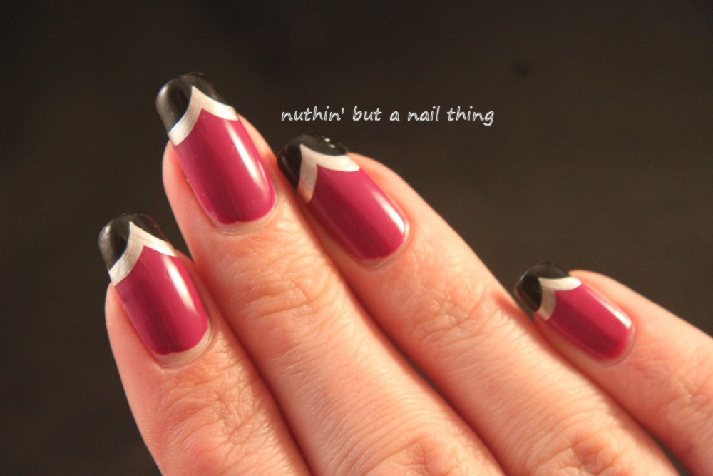 Binky London - Purple Gel Effect - Chevron nail art