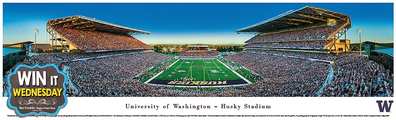 University of Washington Husky Stadium - Panoramic Print