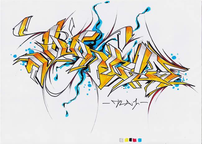3D Animation Graffiti Art