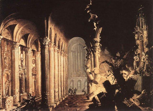 explosion en una catedral