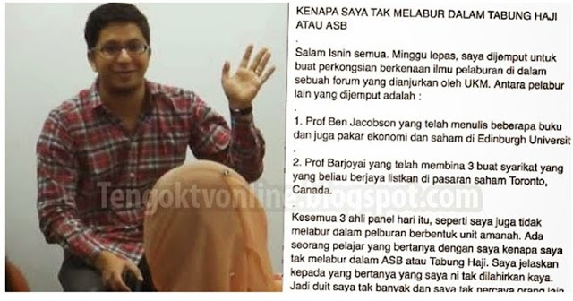 10 Hujah Kenapa Lelaki Ini Tidak Melabur Dalam Tabung Haji Atau ASB