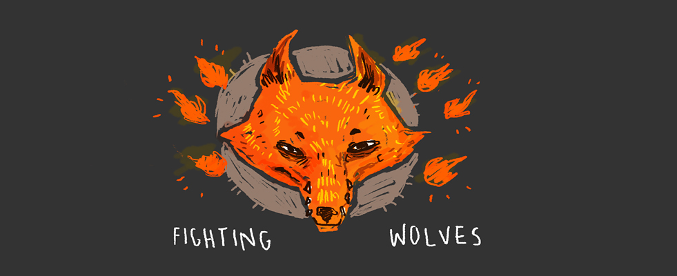 Fighting Wolves!