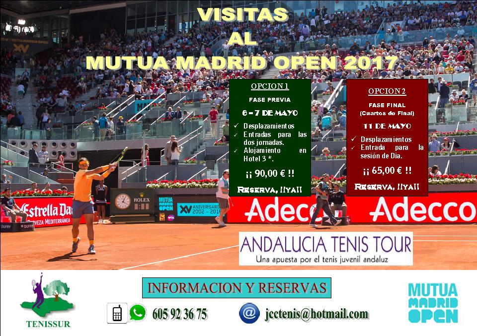 EXCURSION AL MUTUA MADRID OPEN 2017