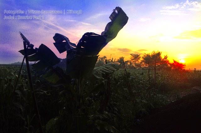 Judul Foto : Sunrise Part 1 | Fotografer : Klikmg3 ( Wisnu Darmawan )