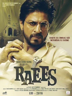 Shah Rukh Khan's Raees Movie first look poster