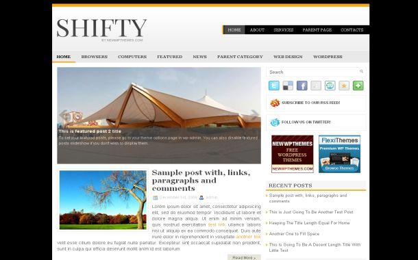Free Yellow Black News Jquery Wordpress Theme