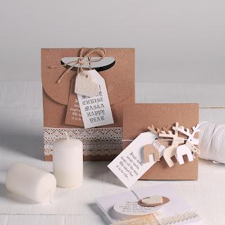 decoración navideña con puntillas self packaging