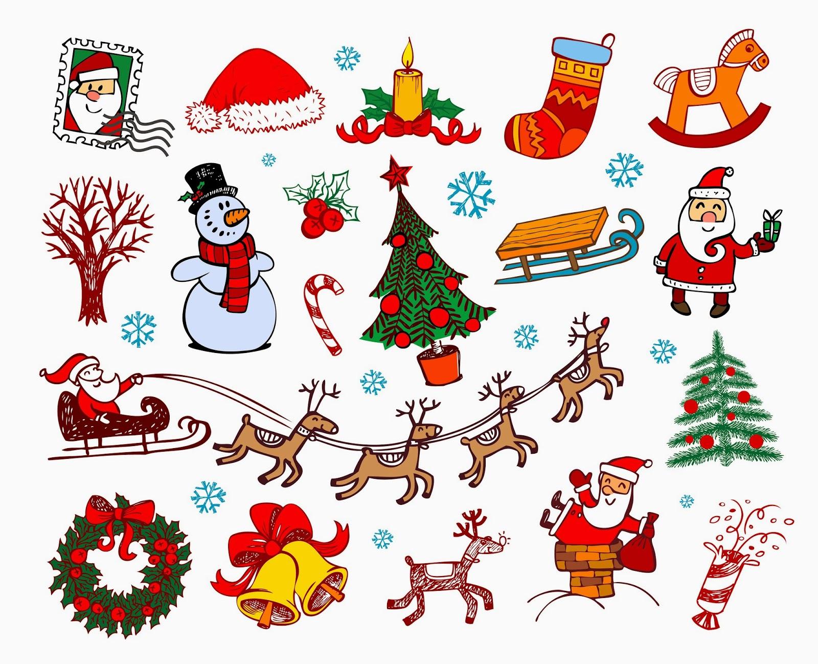 Banco de im genes m s de 20 adornos navide os para crear tarjetas de navidad - Adornos para fotos gratis ...