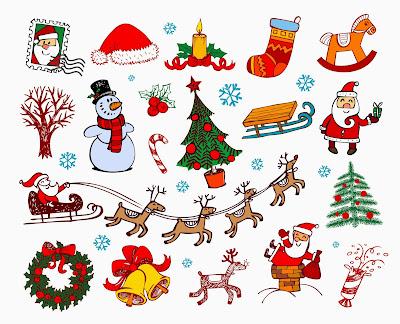 Adornos de Navidad para hacer tarjetas navideñas
