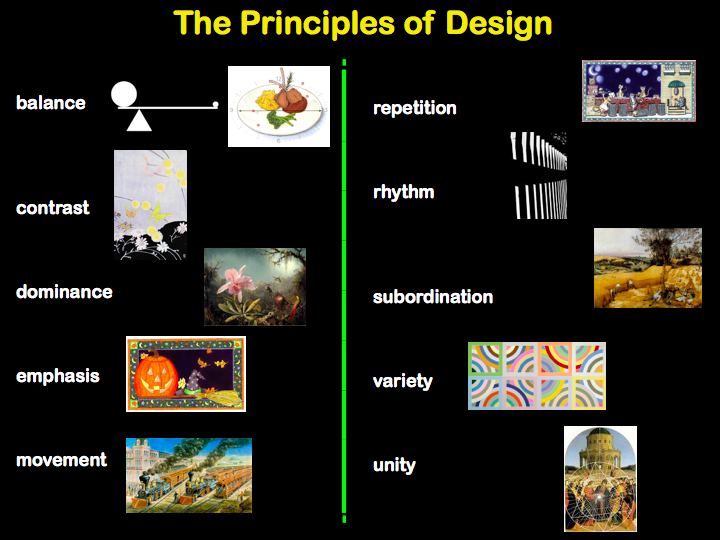 Principles Of Design : Visual arts elements of art and principles design