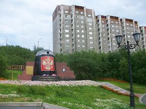 Monument in Moermansk ter nagedachtenis aan de ramp met de kernonderzeeër Koersk