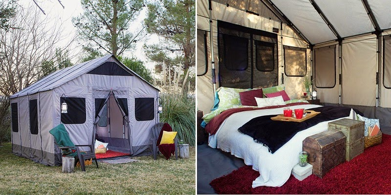 This gorgeous 120 sqft tent sleeps 8 is completely water proof and has built-in ports for heat power and water lines!!! & The Du0027Entremont Group