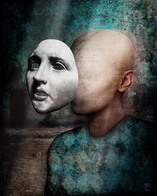 Christian Schloe ilustração digital surreal onírica sonhos A não-verdade