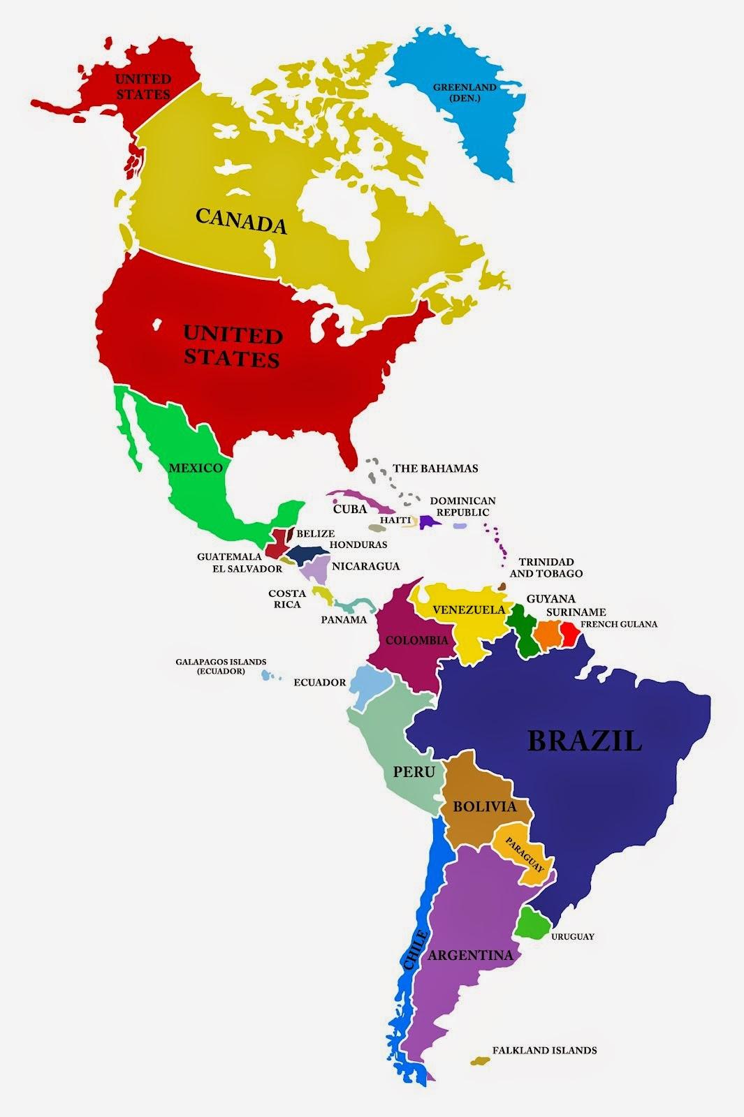 La Geografa Del Mundo Continentes pases y economas Amrica