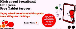 Best broadband plans, Tablet With Tata Docomo Broadband Plans