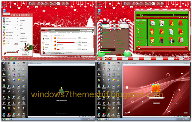 Christmas Skin Pack For Windows 7