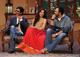 SRK & Deepika Padukone on the sets of 'Comedy Nights with Kapil'