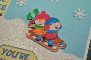 Winter Sledding Tubing Birthday Invitations