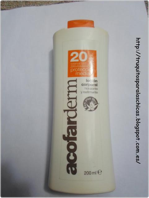 ACOFARDERM LOCION CORPORAL SPF 20+ 200 ML