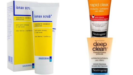 esfoliantes pele com poros dilatados