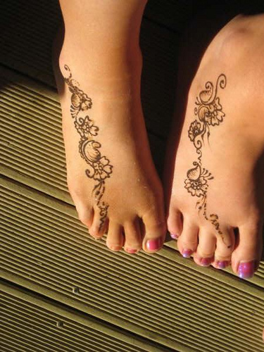 Mehndi Designs For Feet Simple : Mehndi designs simple for feet
