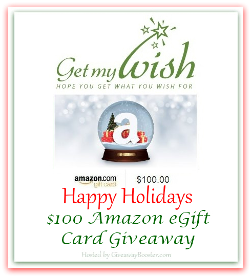 Enter the Get My Wish Giveaway. Ends 10/23