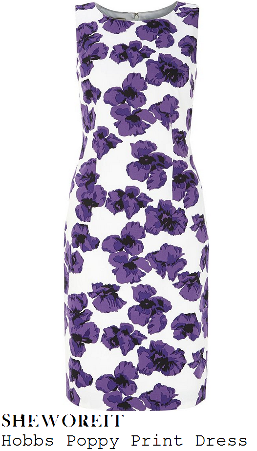 charlotte-hawkins-purple-white-poppy-floral-shift-dress-good-morning-britain