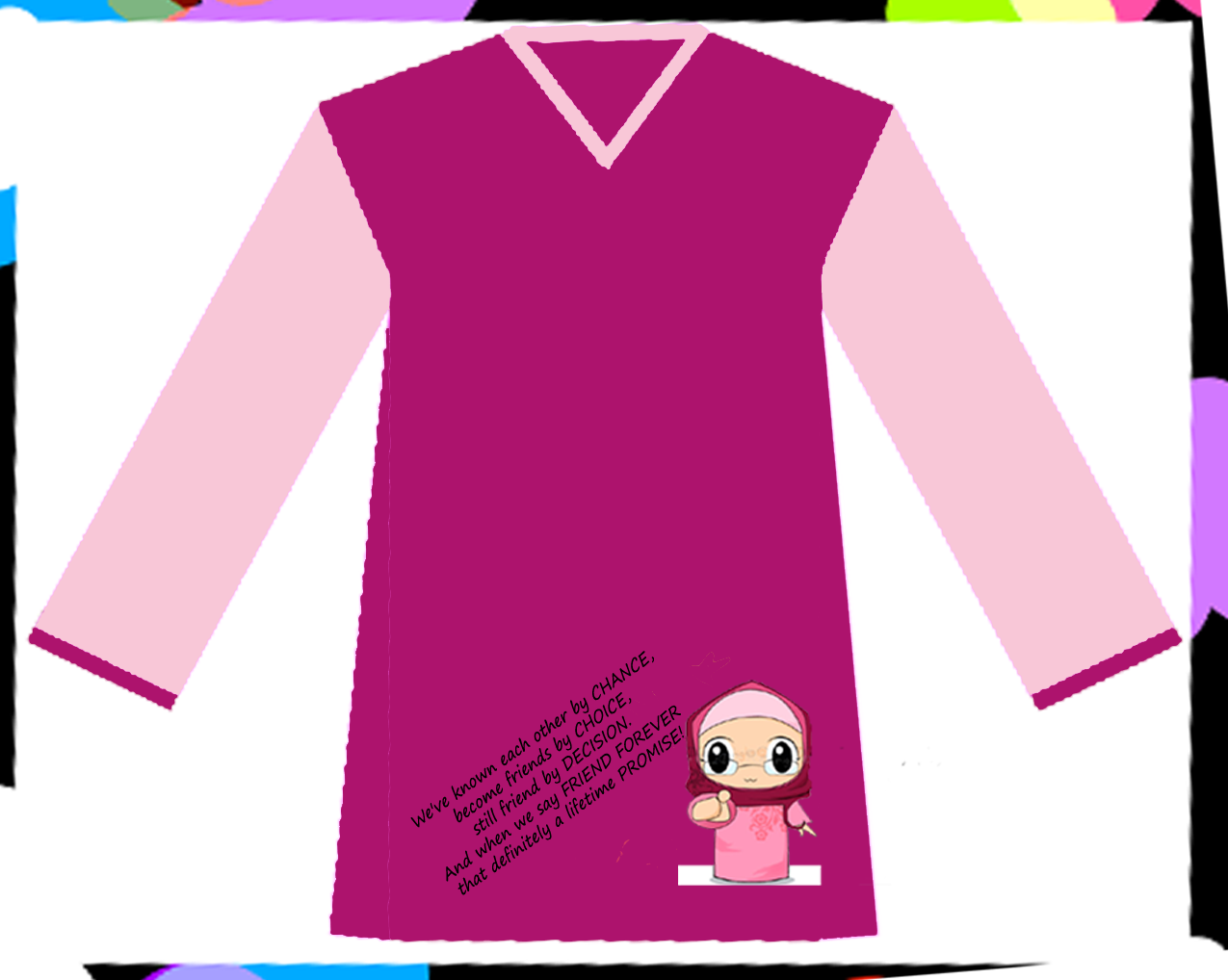 Design baju t shirt kelas - Baju Kelas Al Razi Front