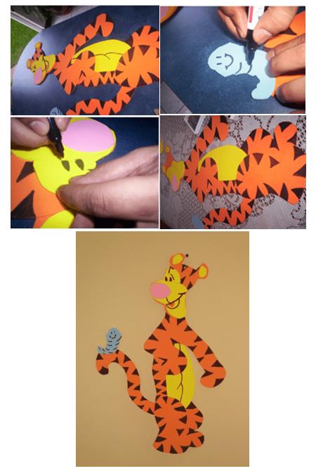 Moldes de dibujos hechos en foami - Imagui