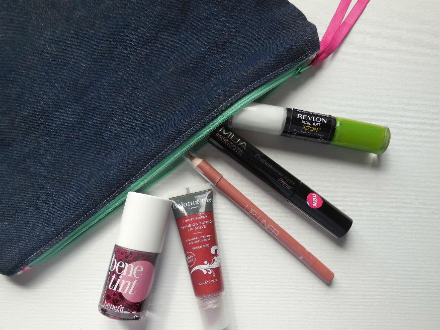 Benetint, Balance Me lip Balm, Limited lip liner, MUA eye primer, Revlon nail polish