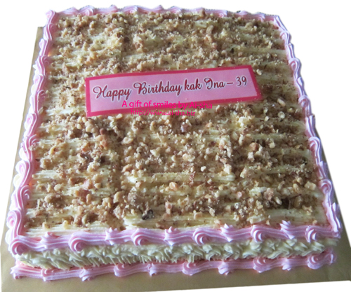 Carrot Walnut Cake  Edible Image