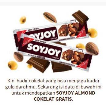 Sampel Gratis  Soyjoy  Almond