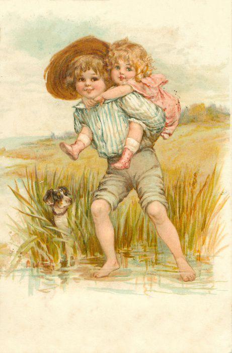 Старинные открытки с детками 34