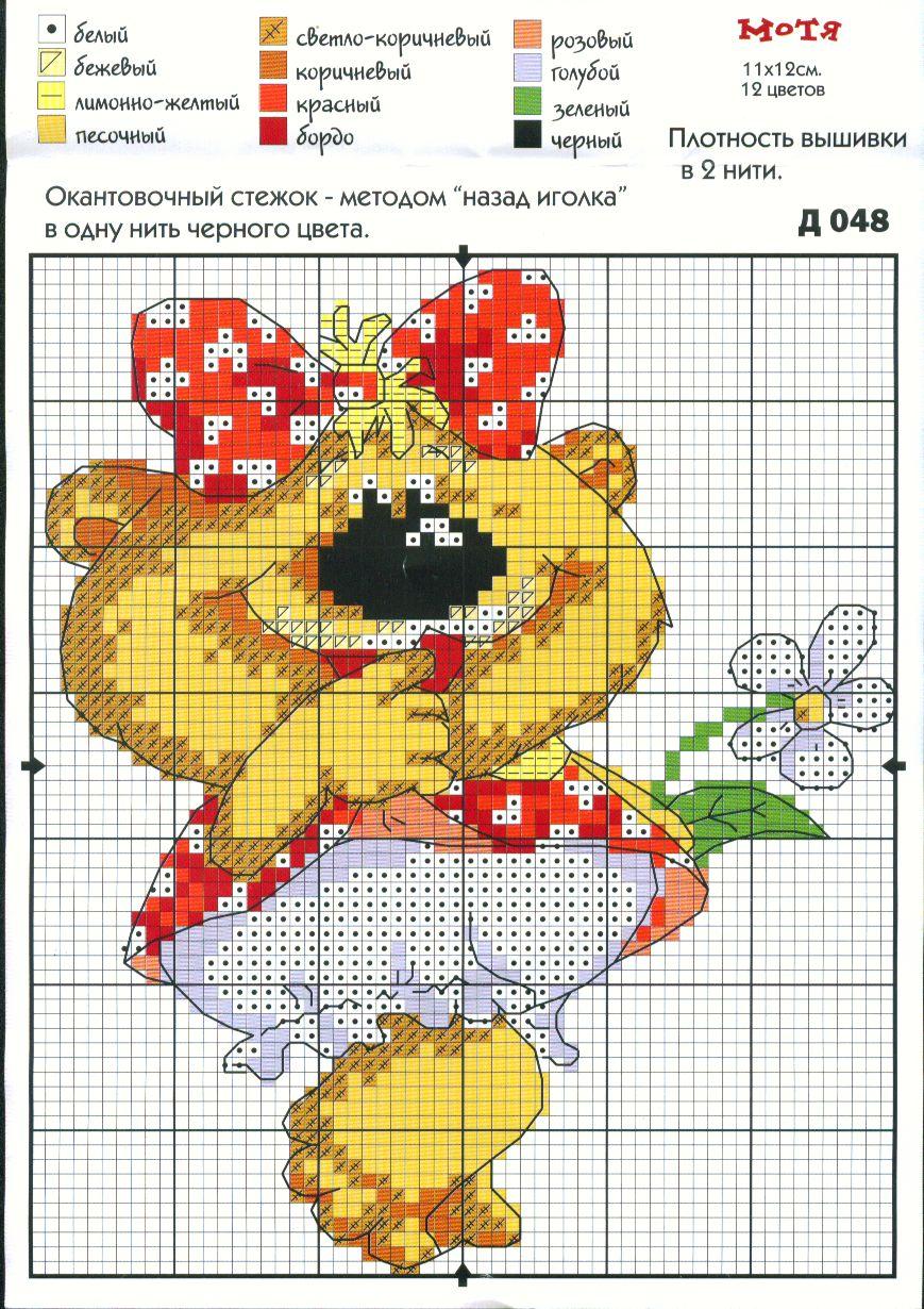 Схемы вышивок крестом для детей картинки