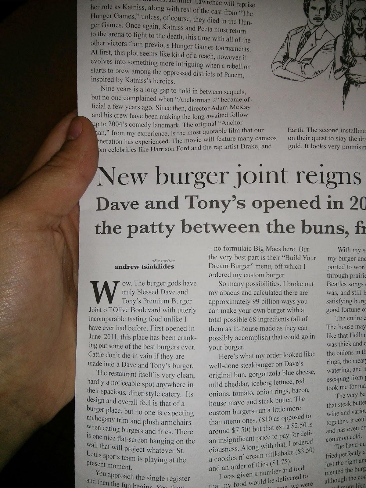 Dave Tonys Premium Burger Joint Creve Coeur St Louis Mid