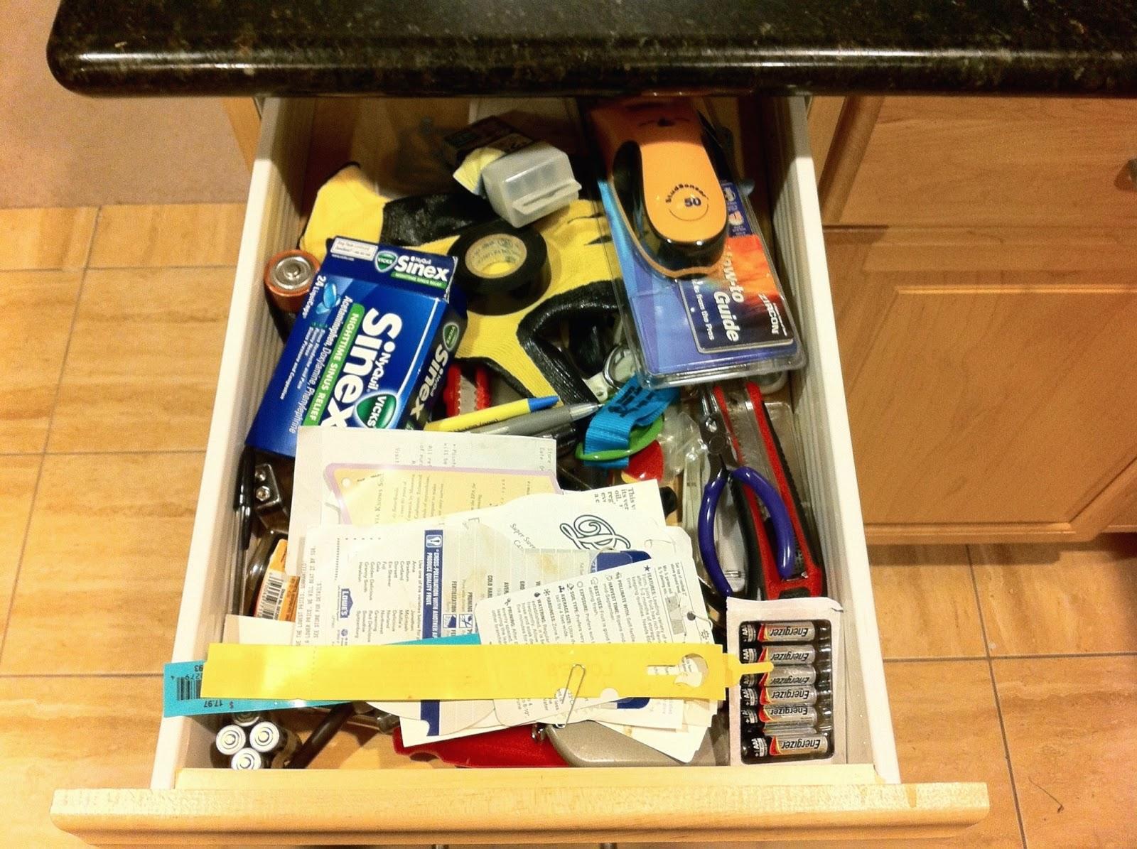 Miscellanea etcetera kitchen organization part 2 junk for Kitchen junk drawer