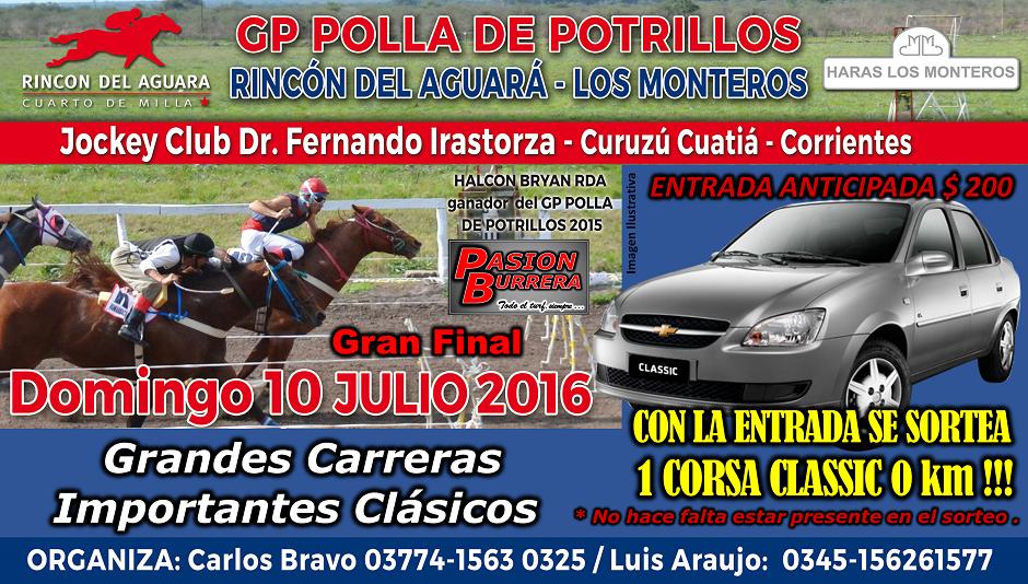 CURUZU CUATIA - 10 DE JULIO - SORTEO AUTO