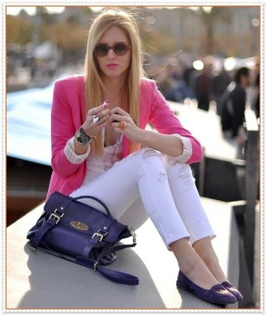 Rosa Blazer Jacken Kombination
