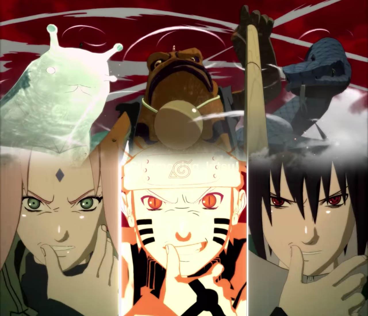 Naruto Shippuden Ultimate Ninja Storm 4 Naruto summons  Gamakichi, Sakura summons Katsuyu, Sasuke summons Aoda