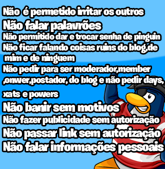 Regras do xat,AVENTURA CLUB PENGUIN!