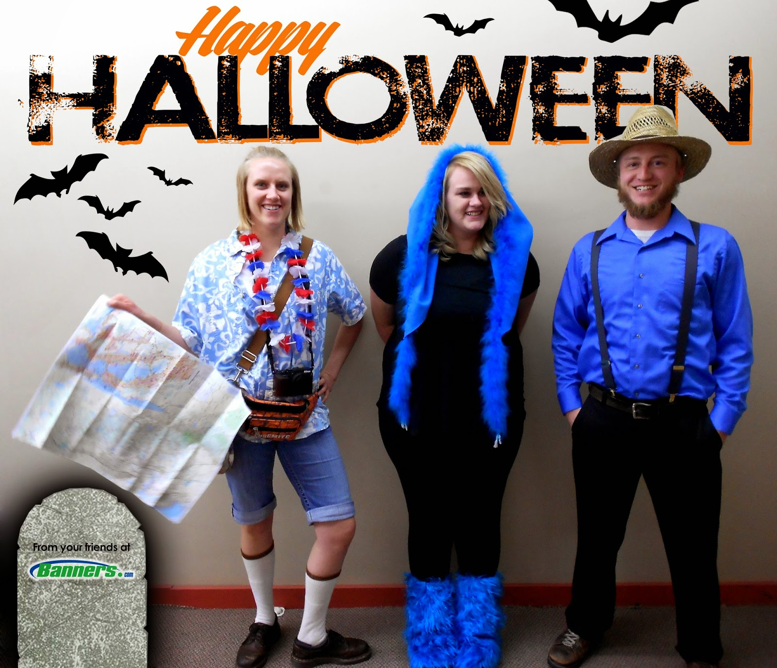 The Tourist, Babe the Big Blue Ox, and an Amish Farmer Halloween Costumes