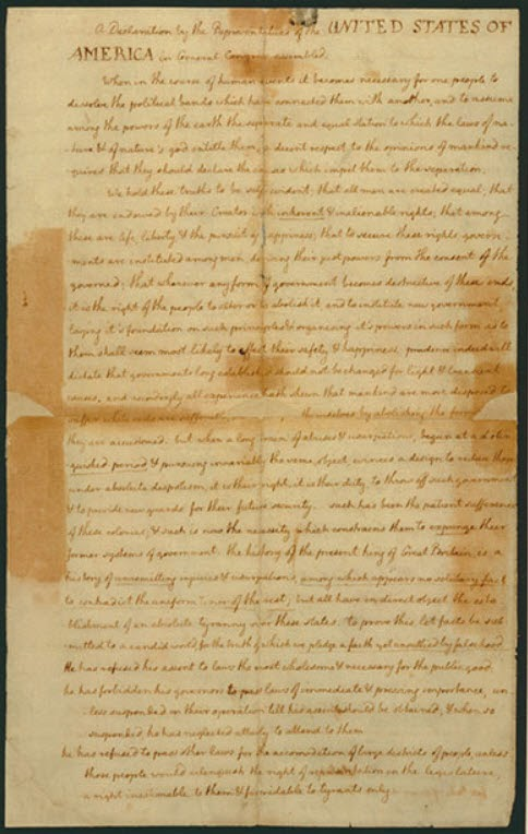 """an introduction to the most important historical documents of the us the declaration of independence Historical documents  he has kept among us,  the declaration of independence justified the american revolution by appealing to """"the laws of nature and of."""