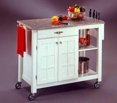 Portable Kitchen Island Granite Countertop