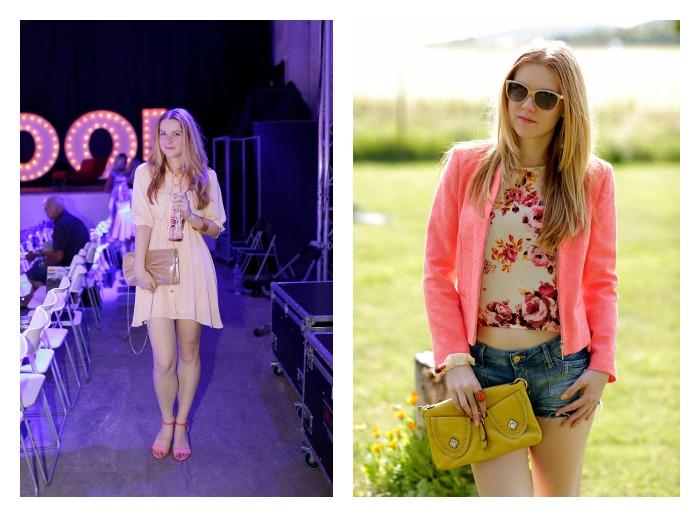 fashion show písek, agentura verona, letní outfit, lososová barva