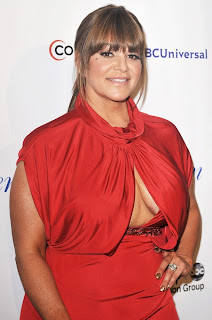 Jenni Rivera in red dress