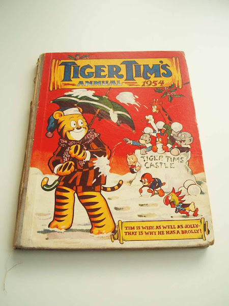 tiger tim, annual, christmas, 1954, tradition, gift, yearbook, festive